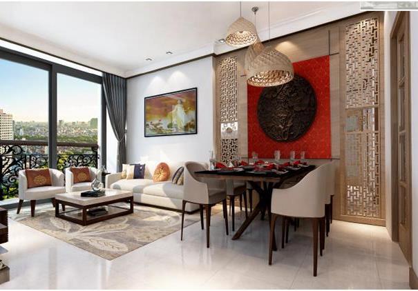 Nội thất mẫu của chung cư Hà Nội Aqua Central